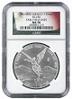 2016 Mexico 1oz Silver Onza Libertad NGC MS70 - Early Releases - Flag Label