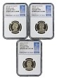 2016 S Presidential Dollar Three Coin Set NGC PF69 Ultra Cameo - 1st Day Issue