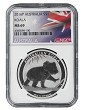 2016 Australia 1oz Silver Koala NGC MS69 - Flag Label