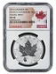 2016 Canada 1oz Silver Reverse Proof Maple Leaf w/ Panda Privy NGC PF70 - Flag Label