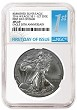 2016 W Burnished Silver Eagle NGC MS69 - First Day Of Issue - Presale