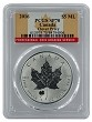 2016 Canada 1oz Silver Reverse Proof Maple Leaf w/ Clover Privy PCGS SP70 - Flag Label