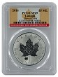 2016 Canada 1oz Silver Reverse Proof Maple Leaf w/ Clover Privy PCGS SP69 - Flag Label