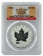 2016 Canada 1oz Silver Reverse Proof Maple Leaf w/ Tank Privy PCGS SP69 - Flag Label