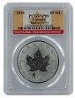 2016 Canada 1oz Silver Reverse Proof Maple Leaf w/ Bigfoot Privy PCGS SP69 - Flag Label