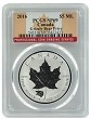 2016 Canada 1oz Silver Reverse Proof Maple Leaf w/ Grizzly Privy PCGS SP69 - Flag Label