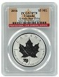2016 Canada 1oz Silver Reverse Proof Maple Leaf w/ Grizzly Privy PCGS SP70 - Flag Label