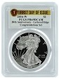 2016 W 1oz Silver Eagle Proof  - From Congratulatons Set PCGS PR69 DCAM - First Day Of Issue