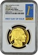2016 W $50 Gold Buffalo Proof NGC PF70 - First Day Of Issue
