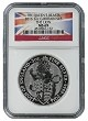2016 Great Britain 2oz Silver Queens Beast Lion NGC MS69 - Flag Label