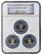 2016 S Presidential Dollar Three Coin Set NGC PF69 Ultra Cameo - Multi Holder