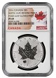 2016 Canada 1oz Silver Reverse Proof Maple Leaf w/ Clover Privy NGC PF69 - Flag Label