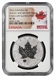 2016 Canada 1oz Silver Reverse Proof Maple Leaf w/ Clover Privy NGC PF70 - Flag Label