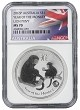 2016 Australia 1oz Silver Monkey w/Lion Privy NGC MS70 - Flag Label