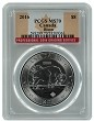 2016 1.25 oz Silver Canadian Bison PCGS MS70 - Flag Label