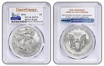 2016 1oz Silver Eagle PCGS MS70 - First Strike - 30th Anniversary Label