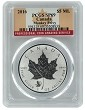 2016 Canada 1oz Silver Reverse Proof Maple Leaf w/ Monkey Privy PCGS SP69 - Flag Label