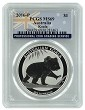 2016 P Australia 1oz Silver Koala PCGS MS69 Flag Label