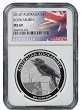 2016 Australia 1oz Silver Kookaburra NGC MS69 - Flag Label