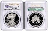 2017 W 1oz Silver Eagle Proof PCGS PR70 DCAM - First Strike - 225th Anniversary Label - Presale