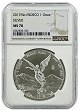 2017 Mexico 1oz Silver Onza Libertad NGC MS70 - Brown Label