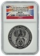 2017 Great Britain 2oz Silver Queens Beast Griffin NGC MS69 - Flag Label