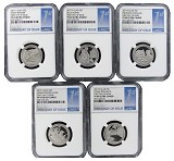 2017 S National Park Clad Quarter Set NGC PF69 Ultra Cameo - First Day Issue