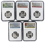 2017 S National Park Clad Quarter Set NGC PF69 Ultra Cameo - Early Releases