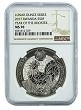 2017 Rwanda 1oz Silver Year Of The Rooster Coin NGC MS70 - Brown Label