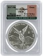 2017 Mexico 1oz Silver Onza Libertad PCGS MS69 - First Strike - Flag Label