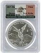 2017 Mexico 1oz Silver Onza Libertad PCGS MS70 - First Strike - Flag Label