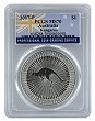 2017 Australia 1oz Silver Kangaroo PCGS MS70 - Flag Label