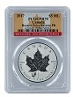 2017 Canada 1oz Silver Reverse Proof Maple Leaf w/ Rooster Privy PCGS PR70 - Flag Label