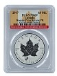 2017 Canada 1oz Silver Reverse Proof Maple Leaf w/ Rooster Privy PCGS PR69 - Flag Label