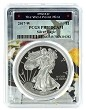 2017 W 1oz Silver Eagle Proof PCGS PR70 DCAM - West Point Frame