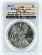 2017 1oz SILVER EAGLE PCGS Brilliant Uncirculated - Flag Label