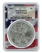 2017 1oz Silver Eagle PCGS MS69 - Flag Frame