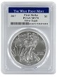 2017 1oz Silver Eagle PCGS MS70 - First Strike - West Point Label