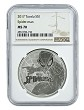 2017 Tuvalu Spider-man 1oz Silver Coin NGC MS70 Brown Label