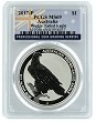 2017 Australia 1oz Silver Wedge Tailed Eagle PCGS - MS69 - Flag Label