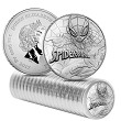 2017 Tuvalu Spiderman 1oz Silver Coin Roll of 20 Coins