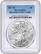 2017 W Burnished Silver Eagle PCGS SP69 - Blue Label
