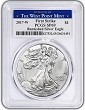 2017 W Burnished Silver Eagle PCGS SP69 - First Strike - West Point Label