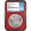2017 1oz Silver American Eagle NGC MS70 - First Day Issue - Red Core