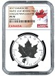 2017 Canada 1oz Silver Reverse Proof Maple Leaf w/ Cougar Privy NGC PF70 - Early Releases - Flag Label