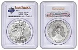 2017 1oz Silver Eagle PCGS MS70 - First Strike - 225th Anniversary Label