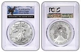 2017 1oz Silver Eagle PCGS MS70 - First Strike - Eagle Label
