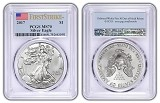 2017 1oz Silver Eagle PCGS MS70 - First Strike Label