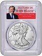 2017 W Burnished Silver Eagle PCGS SP70 - First Day Issue - Donald Trump Special 1 of 1000 Label