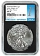 2018 W Burnished Silver Eagle NGC MS69 - Black Core - First Day Issue Label